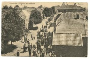 haarstraat uitgaan der fabriek 1910