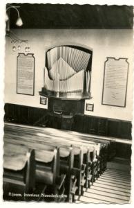 interieur noorderkerk 1960
